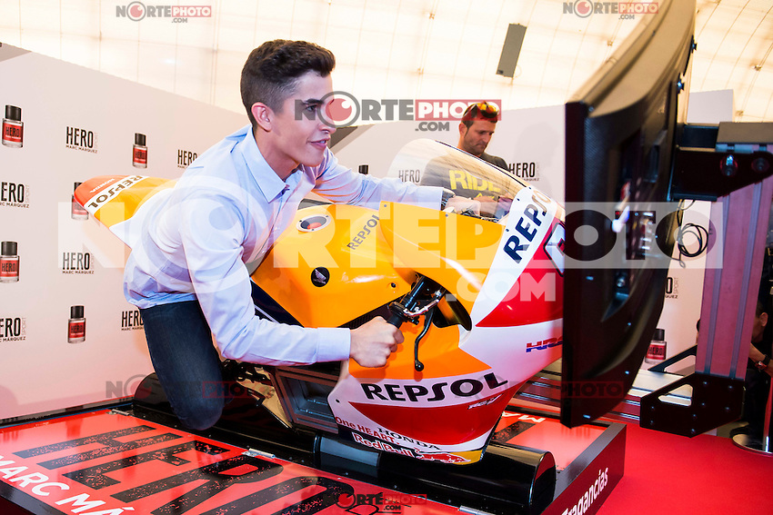 "World Championship Motorcyclist Marc Marquez present his new fragrance ""Hero Sport"" at Casa del Lector in Madrid. October 05, Spain. 2016. (ALTERPHOTOS/BorjaB.Hojas) /NORTEPHOTO"