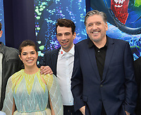 "LOS ANGELES, CA. February 09, 2019: America Ferrera, Jay Baruchel & Craig Ferguson at the premiere of ""How To Train Your Dragon: The Hidden World"" at the Regency Village Theatre.<br /> Picture: Paul Smith/Featureflash"