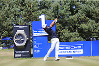 Hideto Tanihara (JPN) tees off the 1st tee during Saturday's Round 3 of the Porsche European Open 2018 held at Green Eagle Golf Courses, Hamburg Germany. 28th July 2018.<br /> Picture: Eoin Clarke | Golffile<br /> <br /> <br /> All photos usage must carry mandatory copyright credit (&copy; Golffile | Eoin Clarke)