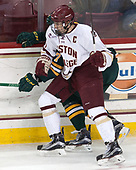 Chris Calnan (BC - 11) - The visiting University of Vermont Catamounts tied the Boston College Eagles 2-2 on Saturday, February 18, 2017, Boston College's senior night at Kelley Rink in Conte Forum in Chestnut Hill, Massachusetts.Vermont and BC tied 2-2 on Saturday, February 18, 2017, Boston College's senior night at Kelley Rink in Conte Forum in Chestnut Hill, Massachusetts.
