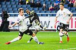 Solna 2015-04-26 Fotboll Allsvenskan AIK - &Ouml;rebro SK :  <br /> AIK:s Henok Goitom skjuter ett skott m&aring;l n&auml;r han g&ouml;r sitt 2-0 m&aring;l under matchen mellan AIK och &Ouml;rebro SK <br /> (Foto: Kenta J&ouml;nsson) Nyckelord:  AIK Gnaget Friends Arena Allsvenskan &Ouml;rebro &Ouml;SK jubel gl&auml;dje lycka glad happy