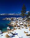 Lake Tahoe Scenic Rocky Winter