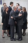 King Juan Carlos of Spain and Adolfo Suarez Illana  arrive to the state funeral for former Spanish prime minister Adolfo Suarez at the Almudena Cathedral in Madrid, Spain. March 31, 2014. (ALTERPHOTOS/Victor Blanco)