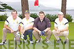 Abbeydourney golfers Bill Maunsell, Liam McCarthy, Ian Maunsell and Frank Egan at the Kerry GAA golf classic in the Killarney Golf and Fishing club on Friday..