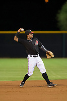 AZL Diamondbacks second baseman Eddie Hernandez (2) on defense against the AZL Padres 2 on August 29, 2017 at Salt River Fields at Talking Stick in Scottsdale, Arizona. AZL Diamondbacks defeated the AZL Padres 2 4-3. (Zachary Lucy/Four Seam Images)