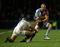 Harlequins' Ross Chisholm evades the tackle of Wasps' Marcus Watson<br /> <br /> Photographer Bob Bradford/CameraSport<br /> <br /> European Rugby Challenge Cup - Harlequins v Wasps - Sunday 13th January 2018 - Twickenham Stoop - London<br /> <br /> World Copyright &copy; 2018 CameraSport. All rights reserved. 43 Linden Ave. Countesthorpe. Leicester. England. LE8 5PG - Tel: +44 (0) 116 277 4147 - admin@camerasport.com - www.camerasport.com