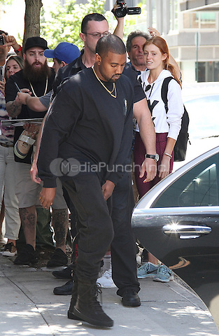 NEW YORK, NY - SEPTEMBER 2: Kanye West spotted leaving his luxury Airbnb  in New York, New York on September 2, 2016.  Photo Credit: Rainmaker Photo/MediaPunch