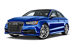 Stock pictures of low aggressive front three quarter view of 2015 Audi S3 Premium Plus 4 Door Sedan