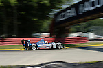 The Lowe's Fernandez Racing Acura ARX-01B driven by Adrian Fernandez and Luis Diaz at the Acura Sports Car Challenge at Mid-Ohio, 2008.