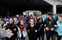 Roma, 22 Dicembre 2010.Via Prenestina.Studenti in corteo contro la riforma Gelmini..students in march against the reform Gelmini