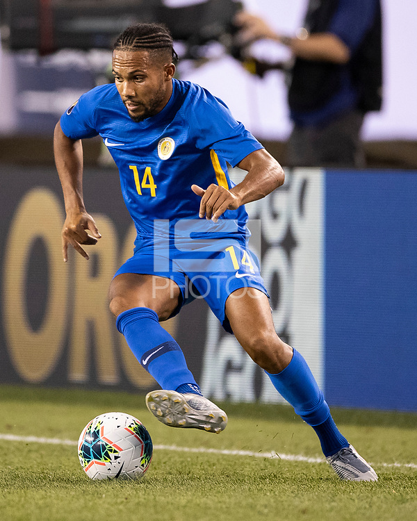 PHILADELPHIA, PA - JUNE 30: Kenji Gorre #14 during a game between Curaçao and USMNT at Lincoln Financial Field on June 30, 2019 in Philadelphia, Pennsylvania.