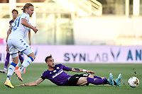 Birkir Bjarnason of Brescia and Gaetano Castrovilli of Fiorentina compete for the ball during the Serie A football match between ACF Fiorentina and Brescia Calcio at Artemio Franchi stadium in Florence ( Italy ), June 22th, 2020. Play resumes behind closed doors following the outbreak of the coronavirus disease. <br /> Photo Antonietta Baldassarre / Insidefoto