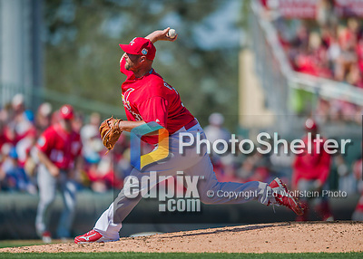 6 March 2016: St. Louis Cardinals pitcher Jonathan Broxton on the mound during a Spring Training pre-season game against the Washington Nationals at Roger Dean Stadium in Jupiter, Florida. The Nationals defeated the Cardinals 5-2 in Grapefruit League play. Mandatory Credit: Ed Wolfstein Photo *** RAW (NEF) Image File Available ***