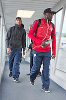 Panama City, Panama - Sunday, October 13, 2013: The US Men's National team arrival in Panama.