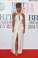 Fleur East arrives for the BRIT Awards 2015 at the O2 Arena, London. 25/02/2015 Picture by: Steve Vas / Featureflash