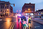August 21, 2017; ND Trail day 8: The day begins in Logansport, IN. (Photo by Matt Cashore/University of Notre Dame)