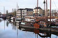 Nederland - Gouda - December 2018.   Schepen in de Museumhaven.  Foto Berlinda van Dam / Hollandse Hoogte