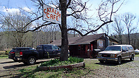 NWA Democrat-Gazette/FLIP PUTTHOFF <br /> Catalpa Cafe is a fine lunch stop during a bike ride on Arkansas 215 along the Mulberry River. The cafe is at the end of the pavement on Arkansas 215. Dining is also available at the Oark General Store in Oark.