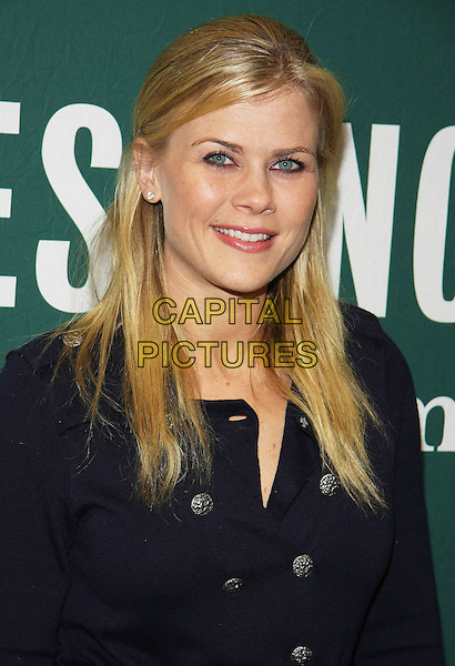 """ALISON SWEENEY.""""The Mommy Diet"""" Book Signing held at Barnes & Noble at The Grove, Los Angeles, California, USA..January 18th, 2011.navy blue jacket coat headshot portrait .CAP/ADM/TB.©Tommaso Boddi/AdMedia/Capital Pictures."""