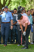 Tiger Woods (USA) reacts to his shot from the trees on 11 during round 2 of the World Golf Championships, Mexico, Club De Golf Chapultepec, Mexico City, Mexico. 2/22/2019.<br /> Picture: Golffile | Ken Murray<br /> <br /> <br /> All photo usage must carry mandatory copyright credit (© Golffile | Ken Murray)