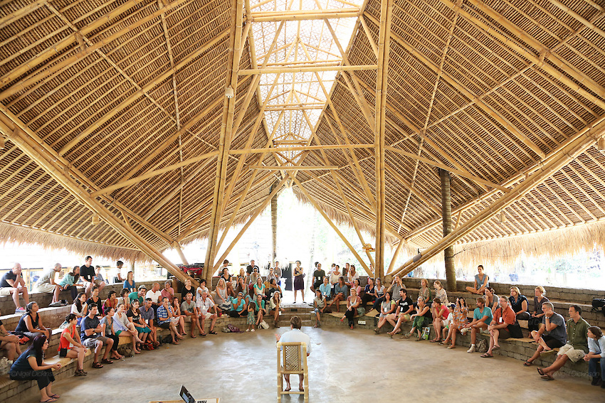 Parent teacher meeting in theatre hall<br />