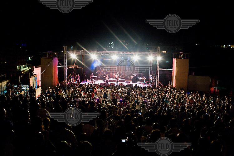 Rock concert in Ramallah.