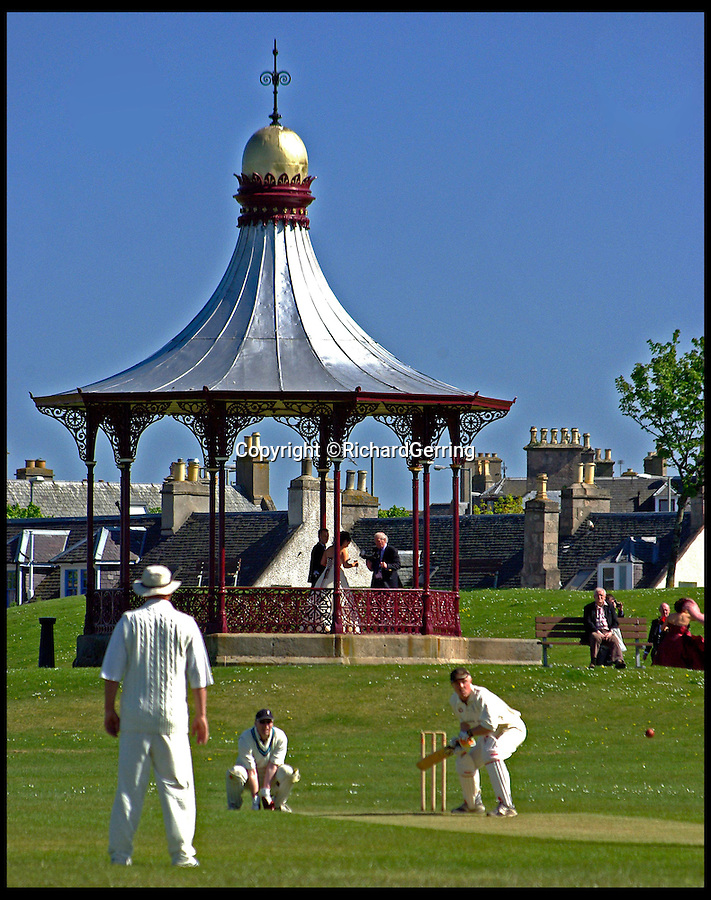 BNPS.co.uk (01202 558833)<br /> Pic: RichardGerring/BNPS<br /> <br /> ***Please Use Full Byline***<br /> <br /> The Links, Wallace Bandstand, Nairn, Scotland still stands today. <br /> <br /> A landscape gardener is trumpeting the great British creation of the bandstand after touring the country's parks to study the iconic structures for a new book.<br /> <br /> Paul Rabbitts' work is a celebration of the Victorian platforms and a throwback to the halycon days of outdoor music when thousands of people would gather in public parks for a brass band performance.