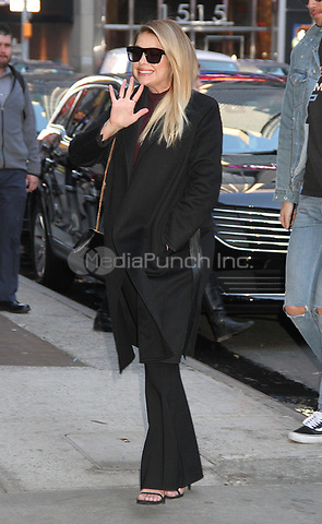 NEW YORK, NY - APRIL18 : Ashley Benson spotted arriving at 'Good Morning America' to talk about the final season of the television series 'Pretty Little Liars'  in New York, New York on April 18 , 2017.  Photo Credit: Rainmaker Photo/MediaPunch