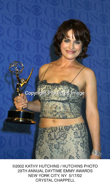©2002 KATHY HUTCHINS / HUTCHINS PHOTO.29TH ANNUAL DAYTIME EMMY AWARDS.NEW YORK CITY, NY  5/17/02.CRYSTAL CHAPPELL
