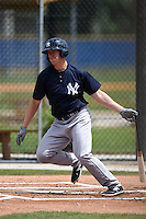 New York Yankees Chris Breen (43) during a minor league spring training game against the Toronto Blue Jays on March 24, 2015 at the Englebert Complex in Dunedin, Florida.  (Mike Janes/Four Seam Images)