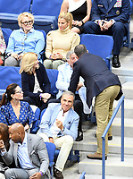 FLUSHING NY- SEPTEMBER 10: Candice Bergen, Jessica Seinfeld, Susan Crow, Tony Bennett and Jerry Seinfeld at the US Open Men's Final Championship match at the USTA Billie Jean King National Tennis Center on September 10, 2017 in Flushing, Queens. <br /> CAP/MPI/PAL<br /> &copy;PAL/MPI/Capital Pictures