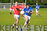 Laune Rangers Shane McSweeney and East Kerry's Alan Looney..   Copyright Kerry's Eye 2008