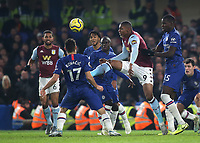 Wesley of Aston Villa in action during Chelsea vs Aston Villa, Premier League Football at Stamford Bridge on 4th December 2019