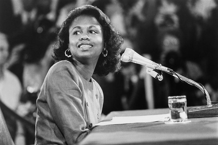 Anita Hill at Clarence Thomas hearings on May 11, 1992. (Photo by Laura Patterson/CQ Roll Call)