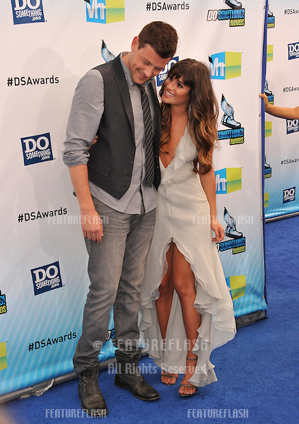 Lea Michele & Cory Monteith at the 2012 Do Something Awards at Barker Hangar. Santa Monica Airport..August 19, 2012  Santa Monica, CA.Picture: Paul Smith / Featureflash