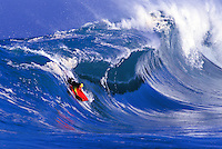 Bodyboarding at Honolua bay, Island of Maui