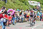 Alberto Contador (ESP) Trek-Segafredo and Mikel Landa (ESP) Team Sky in action during Stage 13 of the 104th edition of the Tour de France 2017, running 101km from Saint-Girons to Foix, France. 14th July 2017.<br /> Picture: ASO/Pauline Ballet | Cyclefile<br /> <br /> <br /> All photos usage must carry mandatory copyright credit (&copy; Cyclefile | ASO/Pauline Ballet)