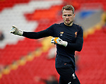 Simon Mignolet of Liverpool warms up before the Champions League Group E match at the Anfield Stadium, Liverpool. Picture date 13th September 2017. Picture credit should read: Simon Bellis/Sportimage