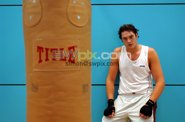 pix: Simon Wilkinson/SWpix.com Boxing feature 30/08/2006..>>copyright picture>>simon wilkinson>>07811267706>>..Amateur boxer Tyson Fury pictured at Institute of Sport in Sheffield