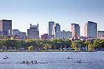 Rowing on the Charles River, Boston, MA, USA