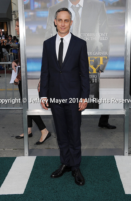 WESTWOOD, CA- APRIL 07: Actor Wallace Langham attends the Los Angeles premiere of 'Draft Day' at the Regency Village Theatre on April 7, 2014 in Westwood, California.