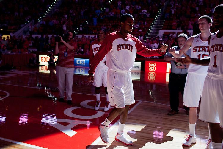 Lorenzo Brown, NC State University vs Princeton at the RBC Center, Raleigh, NC, Wednesday, November 16, 2011. .