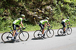 Euskadi Murias team riders chase down the two escapees on the Port de Bales climb during Stage 3 of the Route d'Occitanie 2019, running 173km from Arreau to Luchon-Hospice de France, France. 22nd June 2019<br /> Picture: Colin Flockton | Cyclefile<br /> All photos usage must carry mandatory copyright credit (© Cyclefile | Colin Flockton)