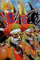 Papua New Guinea, Western Highlands Province, Mt. Hagen Cultural Show, men