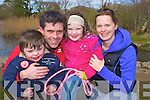 Daire, Brendan, Aoife and Fiona O'Brien enjoying the walk in aid of Gaelscoil Faithleann at Ross Castle on Saturday.....