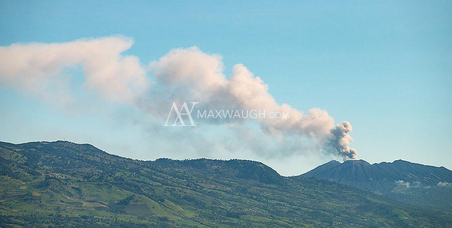 An eruption of Mount Chirripo.