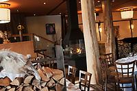 Amérique/Amérique du Nord/Canada/Québec/ Env de Québec/ Wendake:  Salle du Restaurant la Traite à l' Hôtel-Musée des Premières Nations