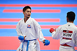 € Ryutaro Araga (JPN), <br /> AUGUST 27, 2018 - Karate : Men's Kumite -84kg Final at Jakarta Convention Center Plenary Hall during the 2018 Jakarta Palembang Asian Games in Jakarta, Indonesia. <br /> (Photo by MATSUO.K/AFLO SPORT)