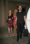 June 7th 2012   Thursday night ....ICE-T leaving Mastro?s restaurant in Beverly Hills with his wife Coco Austin. Coco was showing off major cleavage in a tight red leopard print dress skirt. Coco was carrying a big huge black purse handbag throwing up her hands giving out the Richard Nixon double peace sign ...AbilityFilms@yahoo.com.805-427-3519.www.AbilityFilms.com.