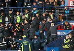 08.11.2019 League Cup Final, Rangers v Celtic: Celtic bench celebrate as Christopher Jullien scores, apart from Neil Lennon